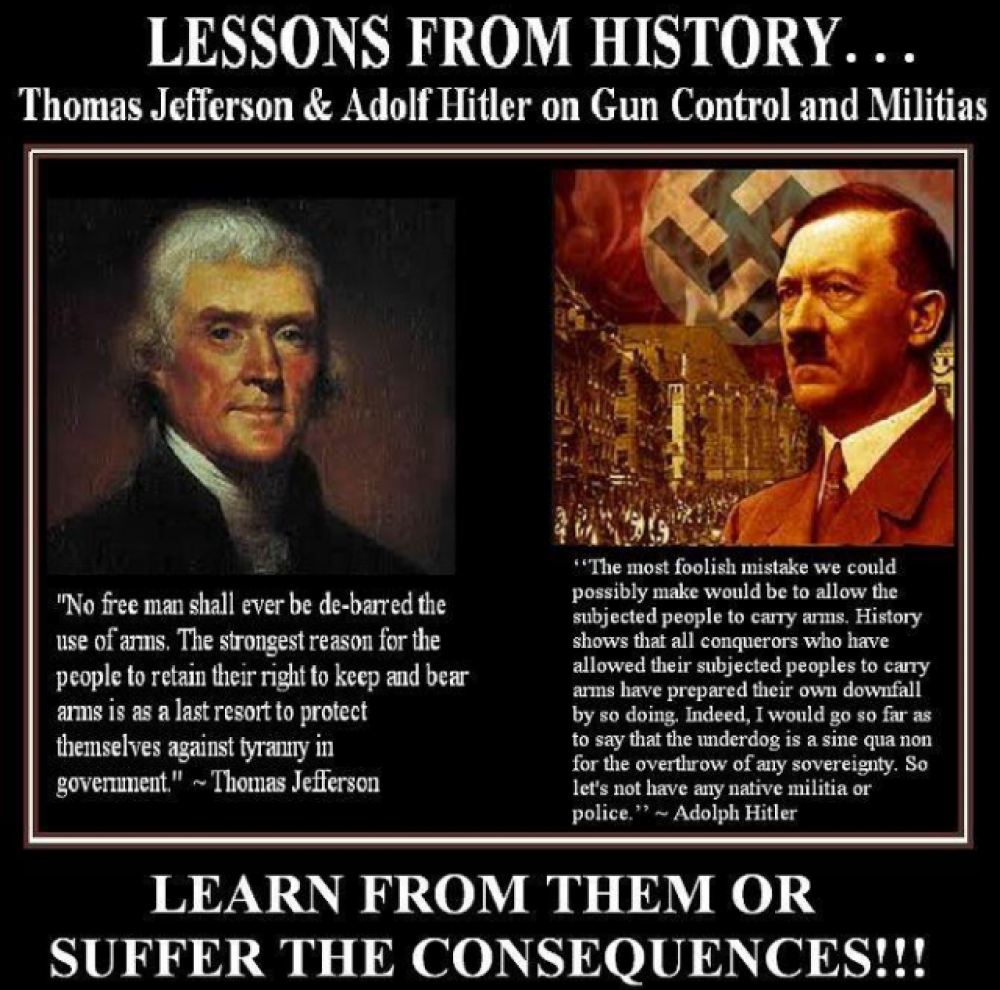 Lessons From History..Thomas Jefferson & Adolf Hitler On