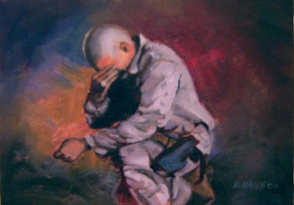 Image -- Soldier Praying